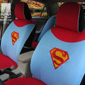 FORTUNE Superman Clark Kent DC Autos Car Seat Covers for 2007 Toyota Highlander 7 Seats - Blue