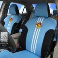 FORTUNE Vegalta Sendai Japan Autos Car Seat Covers for 2009 Toyota Highlander 7 Seats - Blue