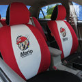 FORTUNE iMario Autos Car Seat Covers for 2008 Toyota Yaris 4-Door Sedan - Red