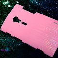 Nillkin Dynamic Color Hard Cases Skin Covers for Sony Ericsson LT28i Xperia ion - Pink (High transparent screen protector)