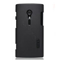 Nillkin Super Matte Hard Cases Skin Covers for Sony Ericsson LT28i Xperia ion - Black (High transparent screen protector)