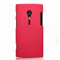 Nillkin Super Matte Hard Cases Skin Covers for Sony Ericsson LT28i Xperia ion - Red (High transparent screen protector)