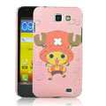 Cartoon Chopper Matte Hard Cases Covers for Samsung I9050 - Pink