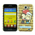 Cartoon Popeye Matte Hard Cases Covers for Samsung I9050 - Brown