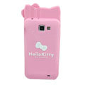 Hello kitty Matte Silicone Cases Skin Covers for Samsung I9050 - Pink