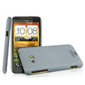 IMAK Cowboy Shell Quicksand Hard Cases Covers for HTC X720d One XC - Gray (High transparent screen protector)