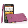 IMAK Cowboy Shell Quicksand Hard Cases Covers for HTC X720d One XC - Purple (High transparent screen protector)