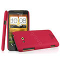 IMAK Cowboy Shell Quicksand Hard Cases Covers for HTC X720d One XC - Red (High transparent screen protector)