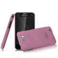 IMAK Cowboy Shell Quicksand Hard Cases Covers for Samsung I9050 - Purple (High transparent screen protector)