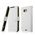 IMAK Slim leather Cases Luxury Holster Covers for HTC X720d One XC - White