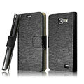 IMAK Slim leather Cases Luxury Holster Covers for Samsung I9050 - Black