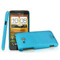 IMAK Ultrathin Matte Color Covers Hard Cases for HTC X720d One XC - Blue (High transparent screen protector)