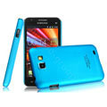IMAK Ultrathin Matte Color Covers Hard Cases for Samsung I9050 - Blue (High transparent screen protector)
