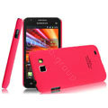 IMAK Ultrathin Matte Color Covers Hard Cases for Samsung I9050 - Rose (High transparent screen protector)