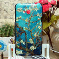 Luxury Painting Apricot Hard Cases Skin Covers for HTC X720d One XC - Blue