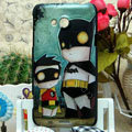 Luxury Painting Batman Hard Cases Skin Covers for HTC X720d One XC - Black
