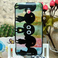 Luxury Painting Girls Hard Cases Skin Covers for HTC X720d One XC - Black