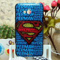 Luxury Painting Superman Hard Cases Skin Covers for HTC X720d One XC - Blue