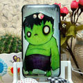 Luxury Painting The Incredible Hulk Hard Cases Skin Covers for HTC X720d One XC - Green