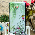Luxury Painting Willow Hard Cases Skin Covers for HTC X720d One XC - Green
