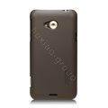Nillkin Super Matte Hard Cases Skin Covers for HTC X720d One XC - Brown (High transparent screen protector)