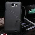 Nillkin Super Matte Hard Cases Skin Covers for Samsung I9050 - Black (High transparent screen protector)