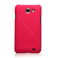Nillkin Super Matte Hard Cases Skin Covers for Samsung I9050 - Red (High transparent screen protector)