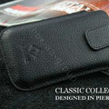 PIERVES Leather Cases Holster Covers for Samsung i8530 Galaxy Beam - Black