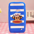 Paul Frank TPU Soft Cases Skin Covers for Samsung i8530 Galaxy Beam - Blue