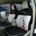 FORTUNE Mickey Mouse Autos Car Seat Covers for 2012 Toyota RAV4 - Gray