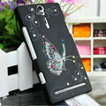 Bling Butterfly Crystals Cases Hard Covers for Sony Ericsson LT26i Xperia S - Black