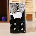 Bling Little lamb Crystals Cases Diamond Covers for Sony Ericsson LT26i Xperia S - Black