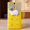 Bling Little lamb Crystals Cases Diamond Covers for Sony Ericsson LT26i Xperia S - Yellow