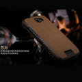 Nillkin England Retro Leather Case Covers for HTC One X Superme Edge S720E G23 - Coffee (High transparent screen protector)
