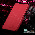 Nillkin England Retro Leather Case Covers for HTC One X Superme Edge S720E G23 - Red (High transparent screen protector)