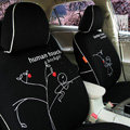 FORTUNE Human Touch Heart tree Autos Car Seat Covers for Honda Accord EX Wagon - Black