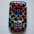 Coach Painting Hard Cases Skin Covers for BB BlackBerry 8520 - Black