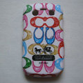 Coach Painting Hard Cases Skin Covers for BB Blackberry Bold 9700 - White