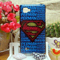 Luxury Painting Superman Hard Cases Skin Covers for LG P880 Optimus 4X HD - Blue
