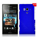 Matte Hard Cases Skin Covers for Sony Ericsson LT26w Xperia acro S - Blue