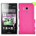 Matte Hard Cases Skin Covers for Sony Ericsson LT26w Xperia acro S - Rose