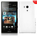 Matte Hard Cases Skin Covers for Sony Ericsson LT26w Xperia acro S - White