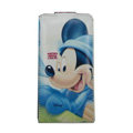 Mickey Mouse Leather Cases Holster Covers for HTC Incredible S S710E G11 - White