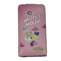 Minnie Mouse Leather Cases Holster Skin Covers for HTC Incredible S S710E G11 - Pink