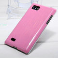 Nillkin Dynamic Color Hard Cases Skin Covers for LG P880 Optimus 4X HD - Pink (High transparent screen protector)