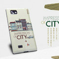 Nillkin Impression of City Hard Cases Skin Covers for LG P880 Optimus 4X HD - Beige (High transparent screen protector)
