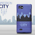 Nillkin Impression of City Hard Cases Skin Covers for LG P880 Optimus 4X HD - Blue (High transparent screen protector)