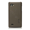 Nillkin Super Matte Hard Cases Skin Covers for LG P880 Optimus 4X HD - Brown (High transparent screen protector)