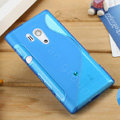 TPU Soft Cases Skin Covers for Sony Ericsson LT26w Xperia acro S - Blue
