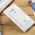 TPU Soft Cases Skin Covers for Sony Ericsson LT26w Xperia acro S - White